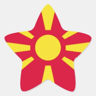 マケドニアの旗 星シール