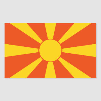 マケドニアの旗 長方形シール