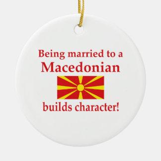 マケドニア人はキャラクターを造ります セラミックオーナメント