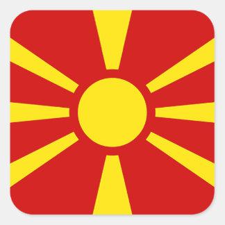 マケドニア共和国の旗 スクエアシール