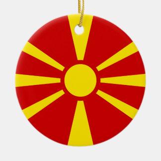マケドニア共和国の旗 セラミックオーナメント