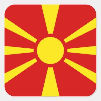 マケドニア-マケドニアの旗 スクエアシール