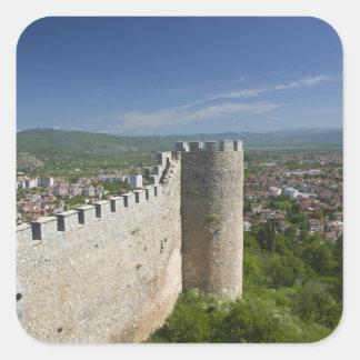 マケドニア、Ohrid。 車のSamoilの城/ スクエアシール