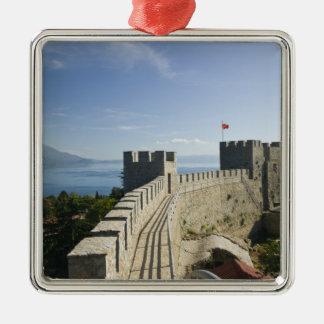 マケドニア、Ohrid。 車のSamoilの城-城 メタルオーナメント