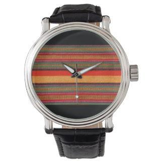 マサイ族のShuka毛布のデザインの腕時計 腕時計