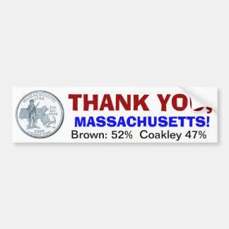 、マサチューセッツありがとう バンパーステッカー