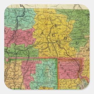 マサチューセッツおよびコネチカットの地図 スクエアシール