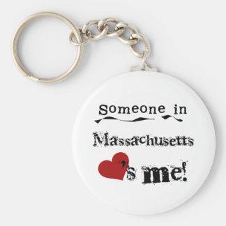 マサチューセッツの誰かは私を愛します キーホルダー