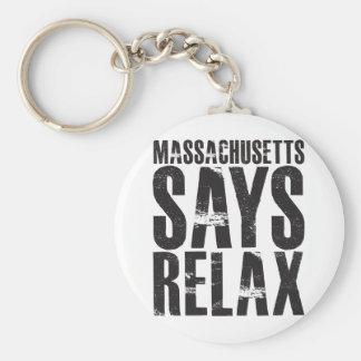 マサチューセッツはリラックスします言います キーホルダー