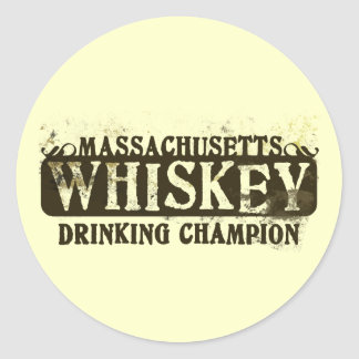 マサチューセッツウィスキーの飲むチャンピオン ラウンドシール