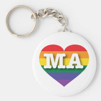 マサチューセッツゲイプライド虹のハート-大きい愛 キーホルダー