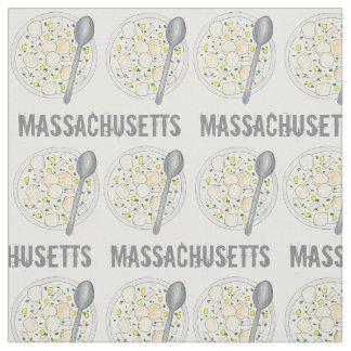 マサチューセッツニューイングランドクラムチャウダーのグルメMA ファブリック