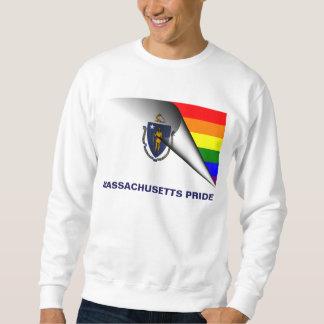 マサチューセッツプライドLGBTの虹の旗 スウェットシャツ