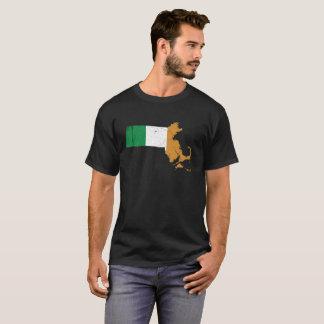 マサチューセッツ上のアイルランドの旗 Tシャツ