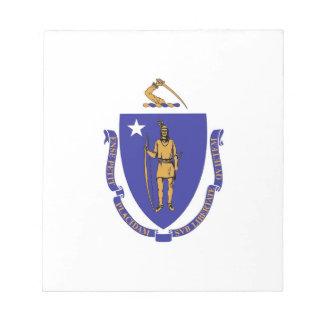マサチューセッツ国家の旗が付いているメモ帳 ノートパッド