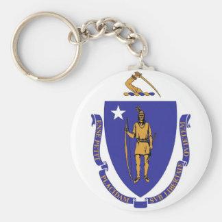 マサチューセッツ国家の旗とのKeychain キーホルダー