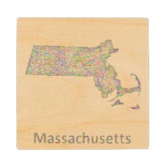 マサチューセッツ地図 ウッドコースター