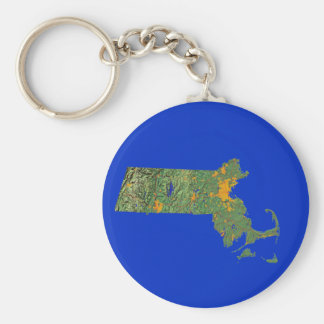 マサチューセッツ地図Keychain キーホルダー