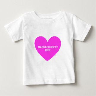 マサチューセッツ女の子 ベビーTシャツ