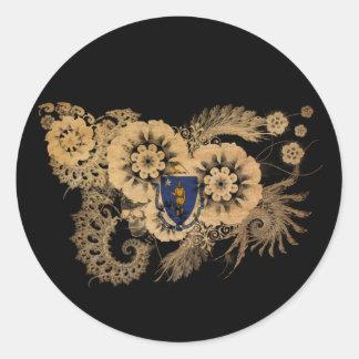 マサチューセッツ旗 ラウンドシール