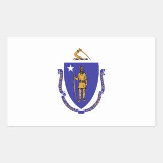 マサチューセッツ旗 長方形シール