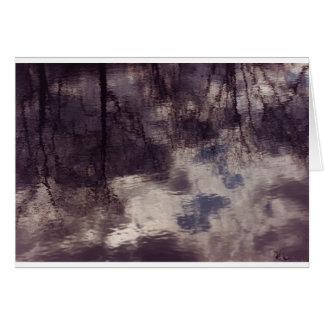 マサチューセッツ池のさざ波そして反射 カード