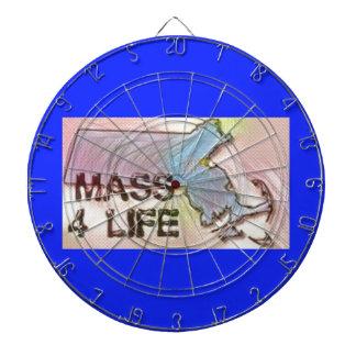 """""""マサチューセッツ4生命""""州の地図のプライドのデザイン ダーツボード"""
