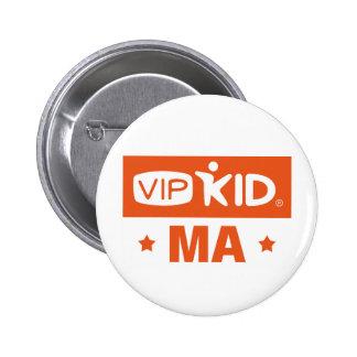 マサチューセッツVIPKIDボタン 5.7CM 丸型バッジ
