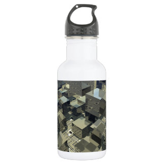 マザーボードのブラウンの立方体 ウォーターボトル