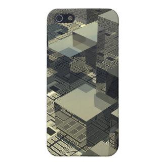 マザーボードのブラウンの立方体 iPhone SE/5/5sケース