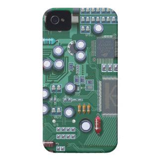 マザーボードギークのブラックベリーのはっきりしたな箱 Case-Mate iPhone 4 ケース