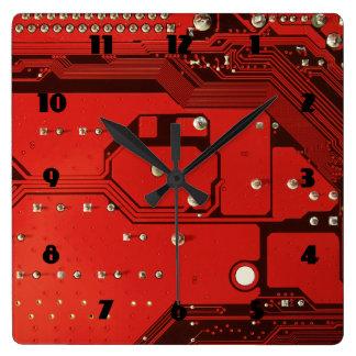 マザーボード赤の広場の時計 スクエア壁時計