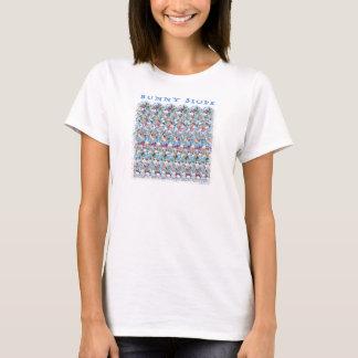 """マジック・アイの® 3Dの""""バニー斜面""""のTシャツ Tシャツ"""