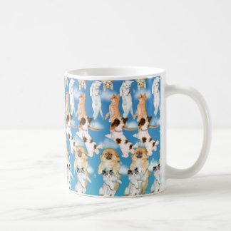 """マジック・アイの® 3D """"猫を雨が降って、犬""""は襲います コーヒーマグカップ"""