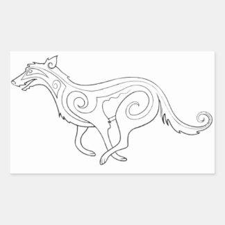 マジック-猟犬 長方形シール
