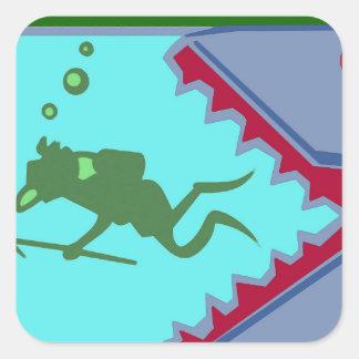 マスのジンベイザメ水海洋動物のアクアリウムを採取して下さい スクエアシール