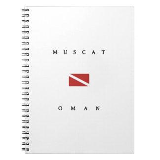 マスカットオマーンのスキューバ飛び込みの旗 ノートブック