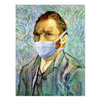 マスクのからかいを用いるフィンセント・ファン・ゴッホの自画像 ポストカード