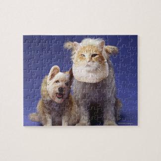 マスクを持つ猫そして犬 ジグソーパズル