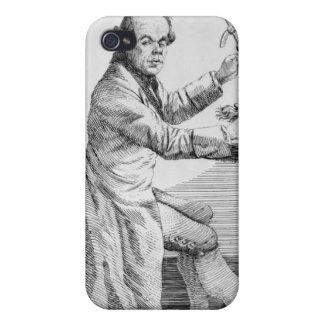 マスク上のカリパスを握る自画像 iPhone 4 COVER