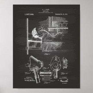 マスク1911のパテントの芸術の黒板 ポスター