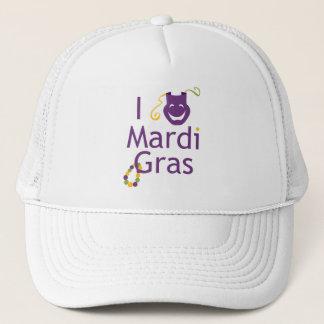 マスクI愛謝肉祭のトラック運転手の帽子 キャップ