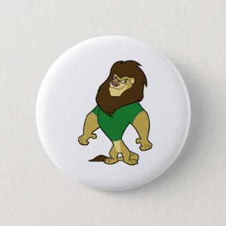 マスコット-ライオンの緑 缶バッジ