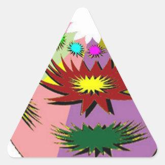 マスコット 三角形シール