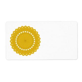 マスタードの黄色い円形のグラフィック ラベル