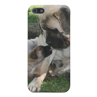 マスティフのパパおよび子犬 iPhone 5 CASE