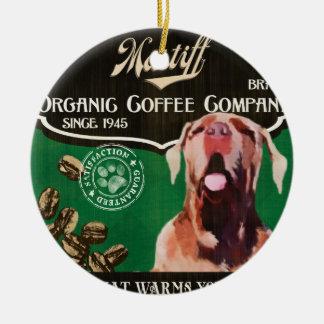 マスティフのブランド- Organic Coffee Company セラミックオーナメント