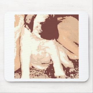 マスティフの子犬のポップアート マウスパッド