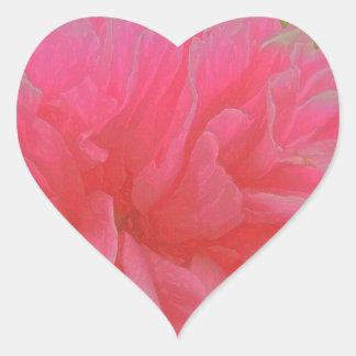 マゼンタおよび赤いの花のラプソディ ハートシール