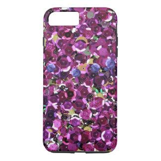 マゼンタのピンクの模造のなスパンコールの写真の印画 iPhone 8 PLUS/7 PLUSケース